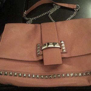 Zara leather studded chain shoulder bag